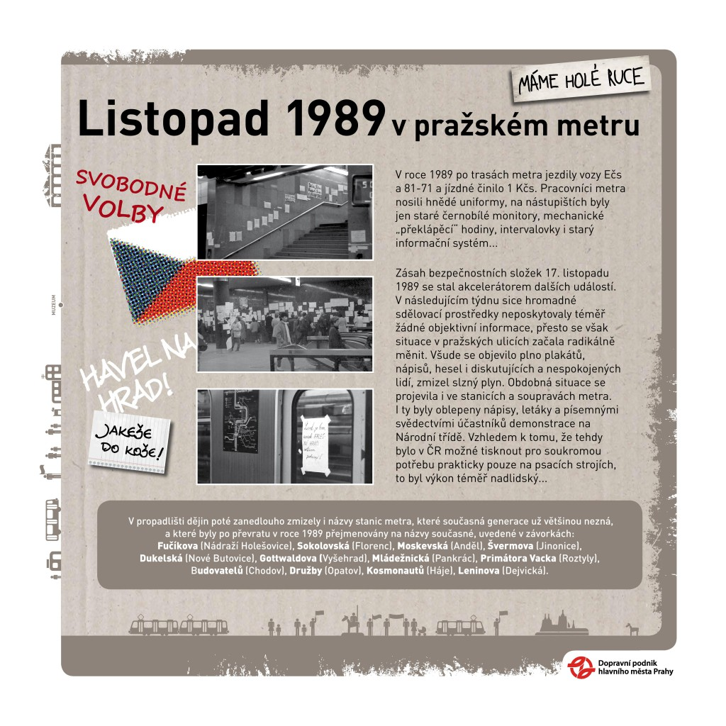 Listopad 1989 v metru