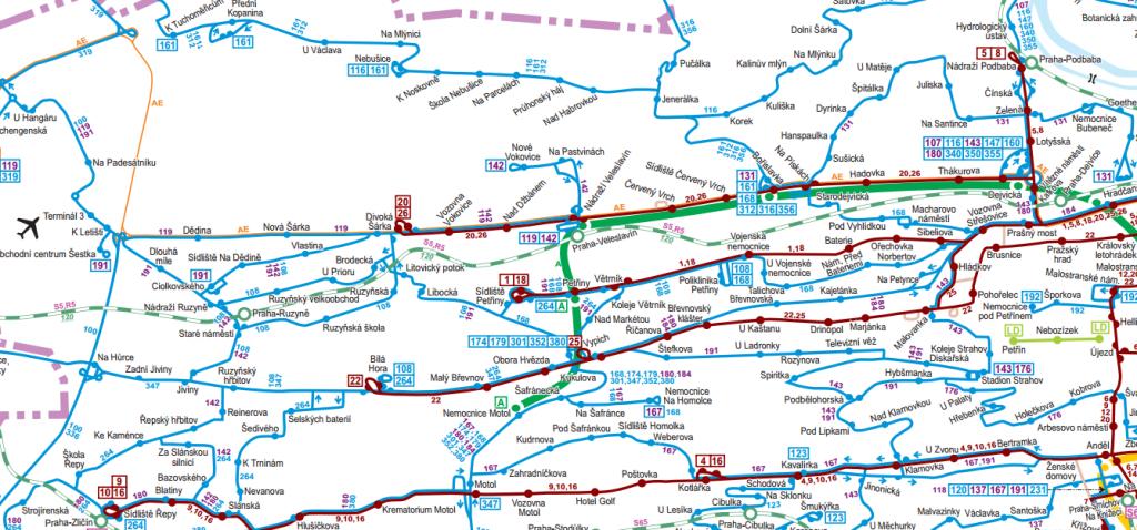 Plánované linkové vedení MHD od dubna