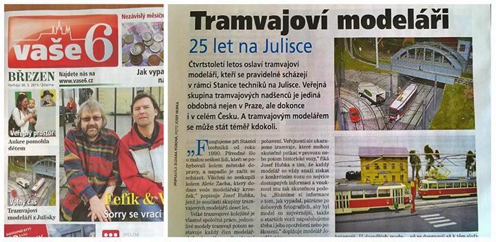 O tramvajových modelářích vyšel článek v březnovém čísle časopisu Vaše 6