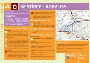 Změny v MHD při výluce tramvají Kobylisy - Ke Stírce