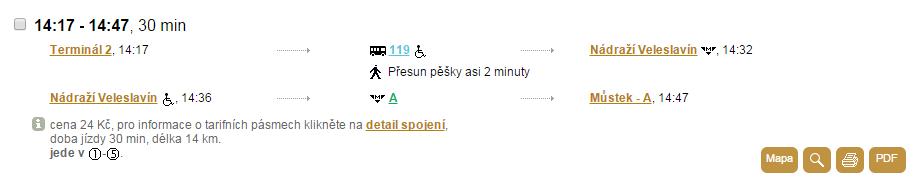 Spojením linky 119 a metra A jste v centru za 30 minut. Rychlodráha má nabídnout spojení jen o tři minuty rychlejší.