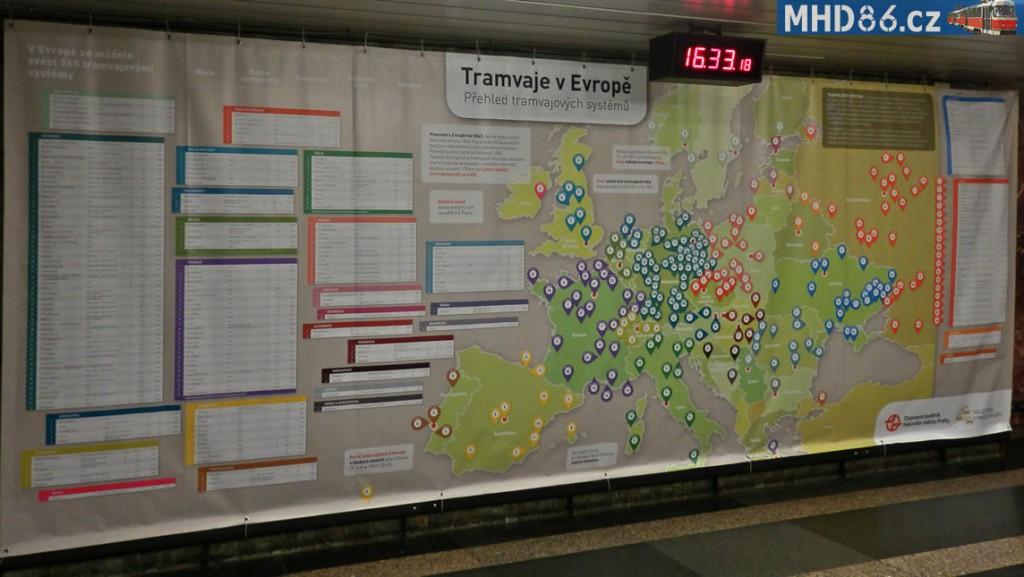 "Expozice ""Tramvaje v Evropě"" ve stanici metra Florenc"
