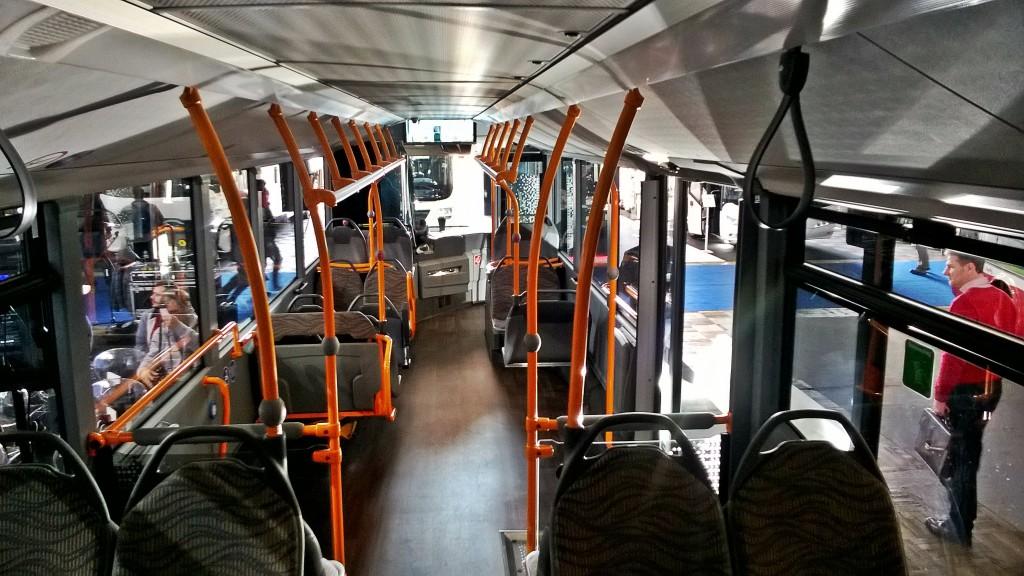 Interiér autobusu Mercedes-Benz Citaro