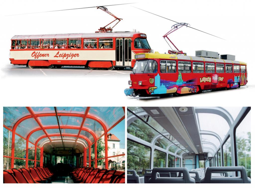 Lipské vyhlídkové tramvaje T4D
