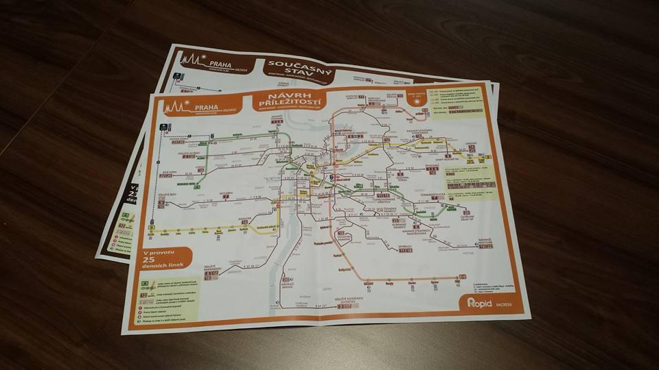 Návrh tramvajových změn. Zdroj: Facebook Petra Dolínka.