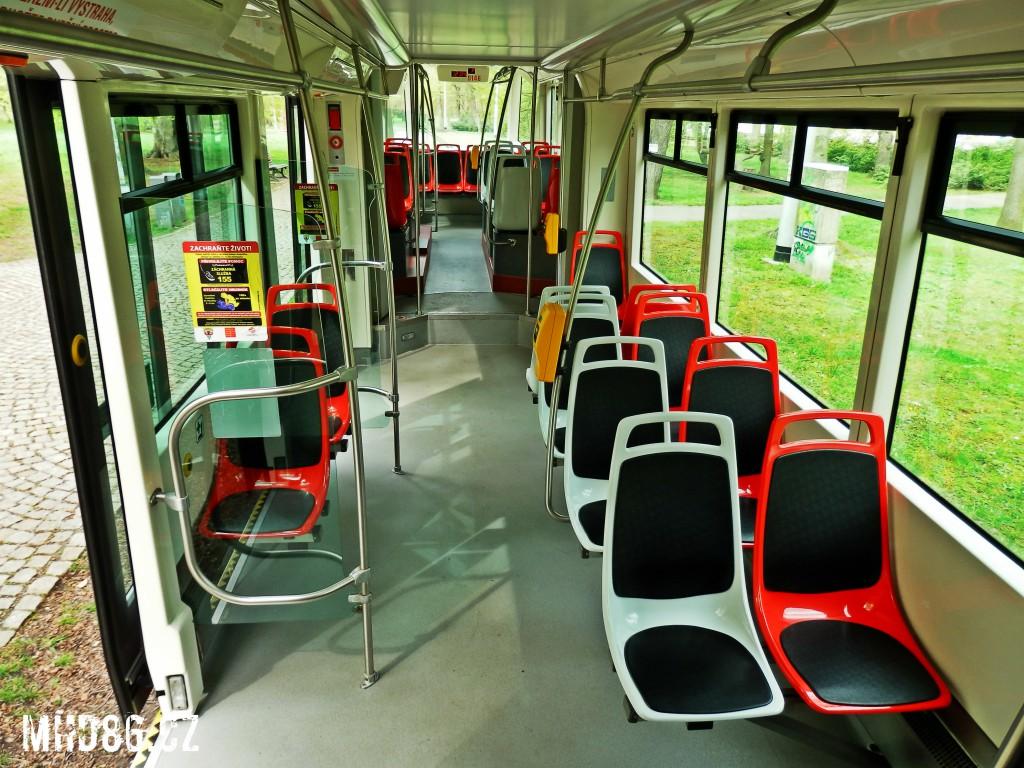 Nové sedačky navazují na tradici tramvají T3