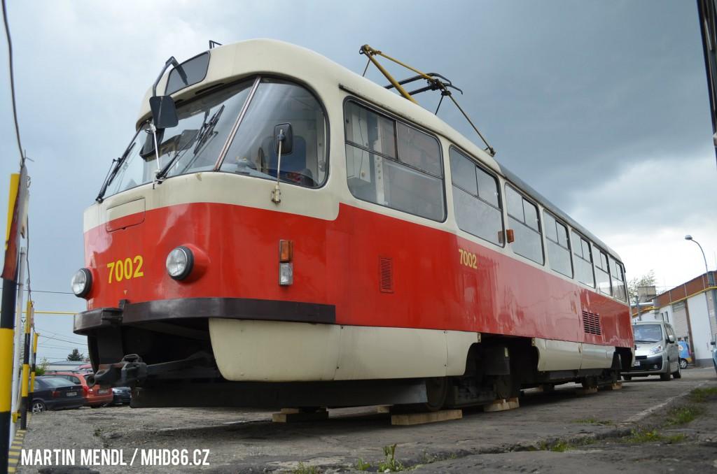 Tramvaj T3SU 7002 u Stenbusu. Foto: Martin Mendl