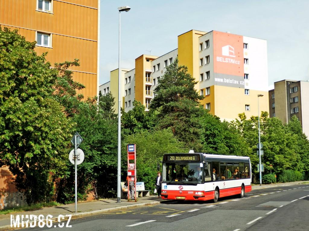 Linka 213 na Spořilově