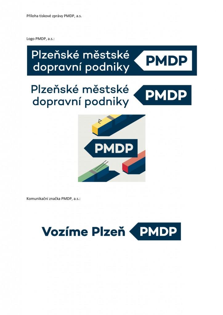 Příklady použití nového loga PMDP