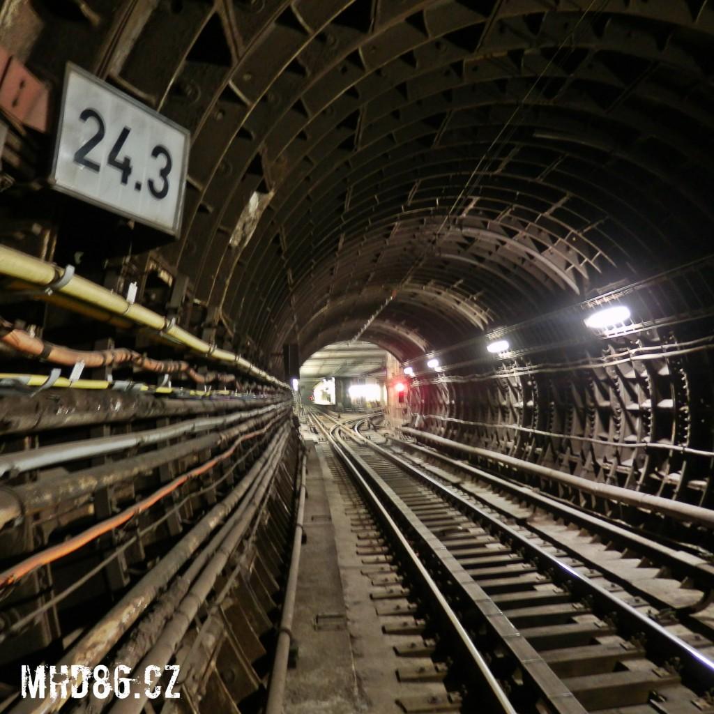 24,3 kilometr pražského metra