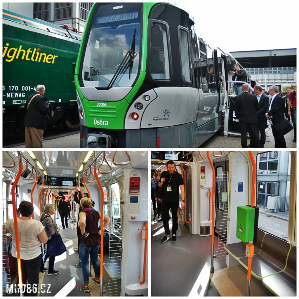 Stadtbahn Vossloh-Kiepe/AlstomTW 3000 pro německý Hannover